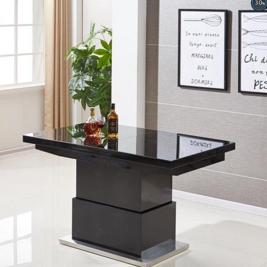 Elgin Extending Glass Coffee In To A Dining Table In Black Gloss_3