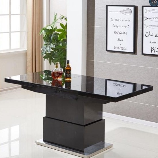 Elgin Extending Glass Coffee In To A Dining Table In Black Gloss_4