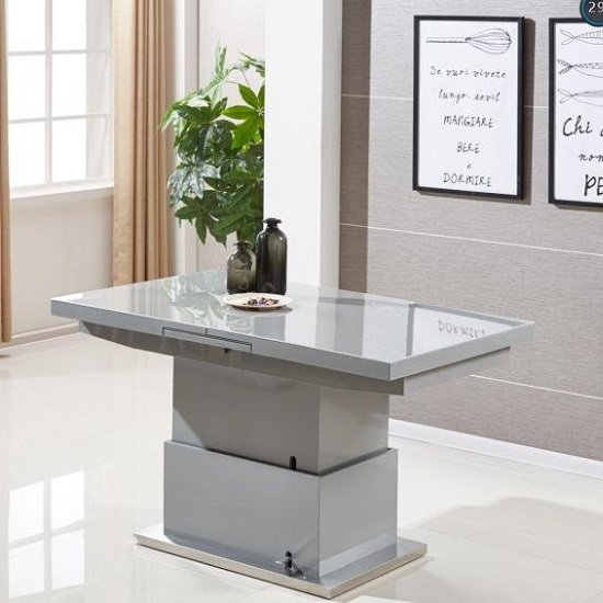 Elgin Extending Glass Coffee In To A Dining Table In Grey Gloss_3