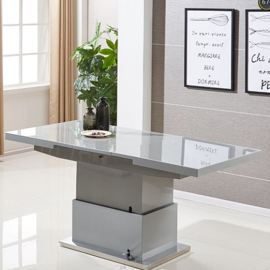 Elgin Extending Glass Coffee In To A Dining Table In Grey Gloss_4