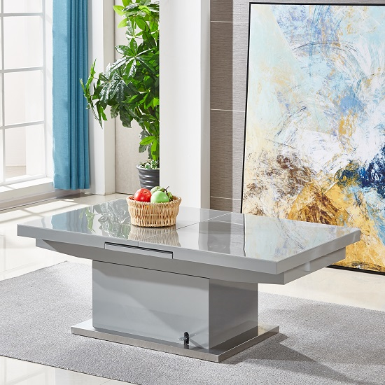 Elgin Extending Glass Coffee In To A Dining Table In Grey Gloss_5