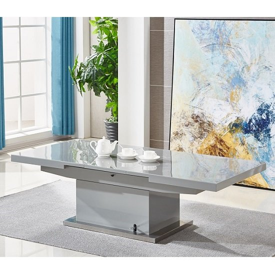 Elgin Extending Glass Coffee In To A Dining Table In Grey Gloss_2