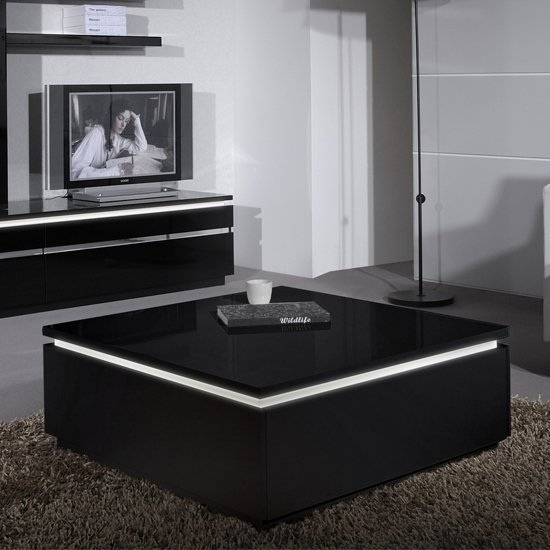 Grey High Gloss Coffee Table Tables