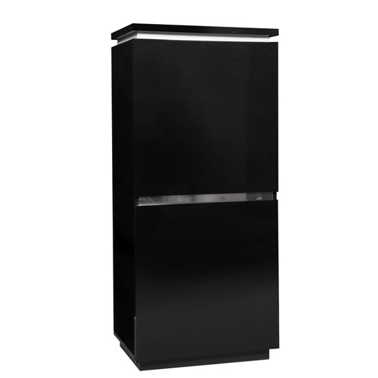 Elisa Sideboard Cupboard In Black Lacquer With Lights