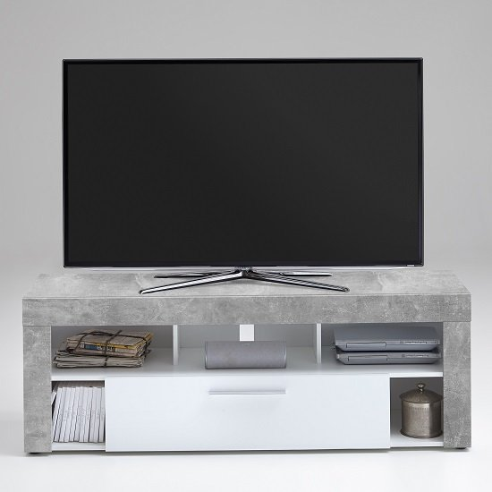 Elista Small TV Stand In White And Light Atelier