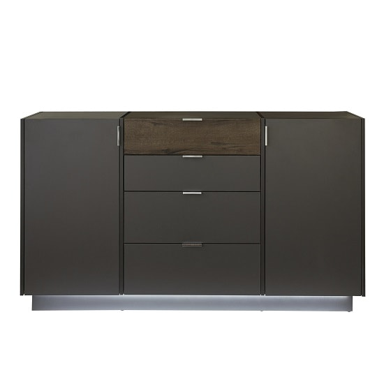 Elle Sideboard In Terra Grey And Monastary Oak With LED