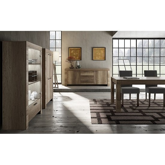 Ellie Wooden Dining Table Large In Canyon Oak_2