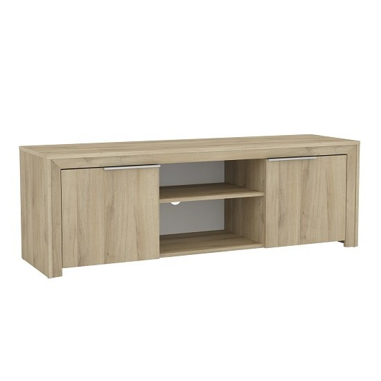 Elliott Wooden TV Stand In Kronberg Oak With 2 Doors