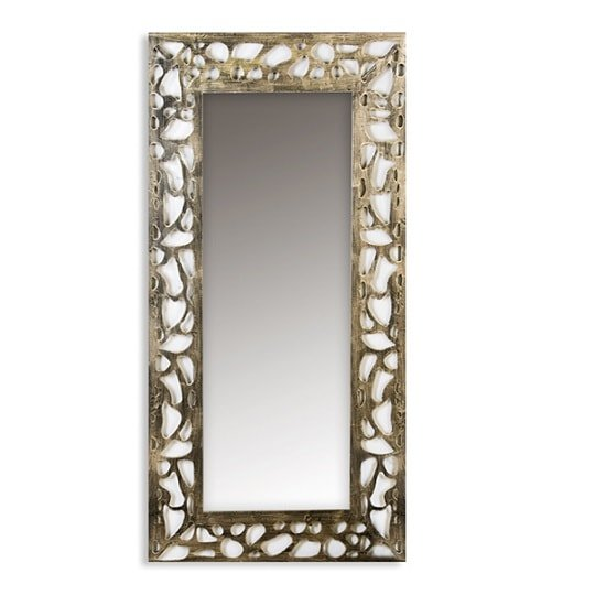 Ellis Rectangular Wall Mirror With Metal Frame 32976