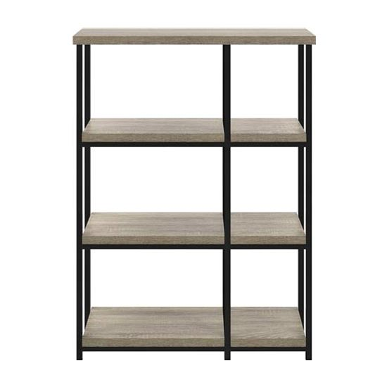 Elmwood Wooden Bookcase In Distressed Grey Oak_3