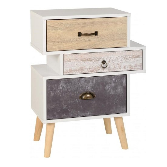 Elston Bedside Cabinet In White And Distressed Effect_1