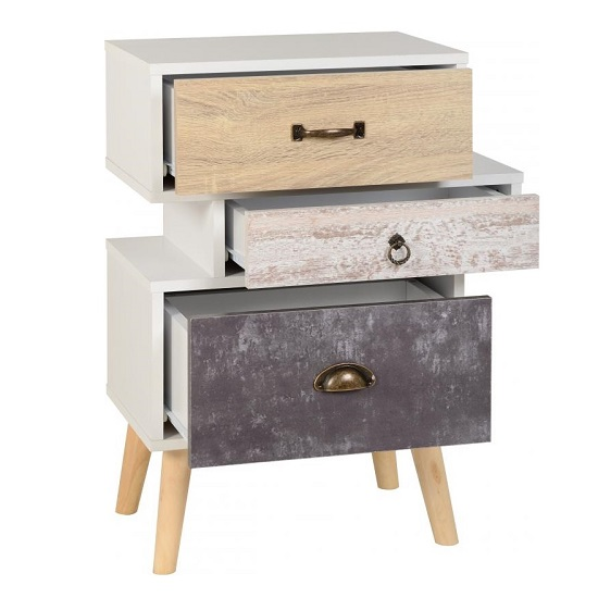 Elston Bedside Cabinet In White And Distressed Effect_2