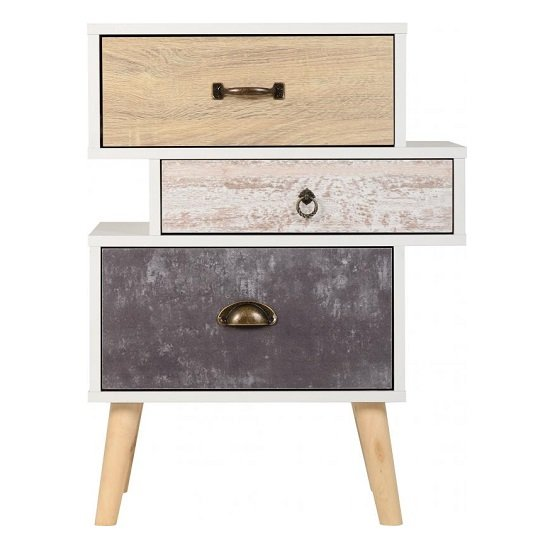 Elston Bedside Cabinet In White And Distressed Effect_3