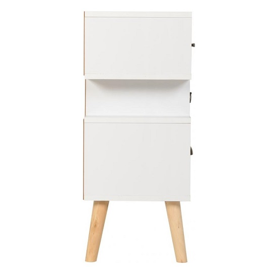 Elston Bedside Cabinet In White And Distressed Effect_4