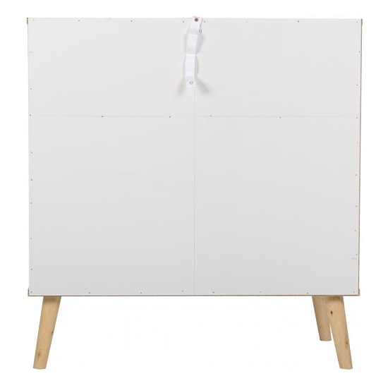 Elston Wide Chest Of Drawers In White And Distressed Effect_4