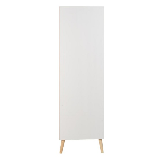 Elston Wardrobe In White And Distressed Effect With Two Doors_4