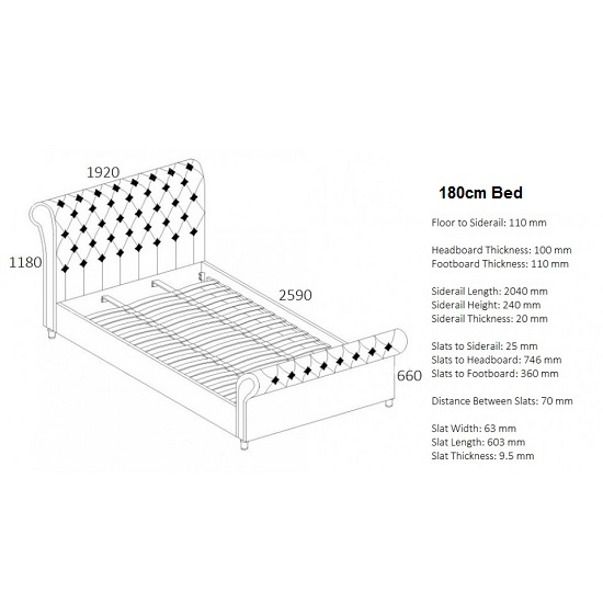 Elton Fabric Bed In Steel With Dark Wooden Feet_5
