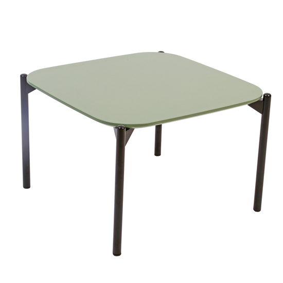 View Elvar square wooden coffee table in green