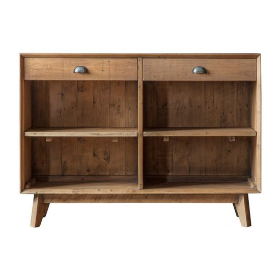 Elvedon Wooden 2 Drawers 2 Shelves Sideboard In Oak