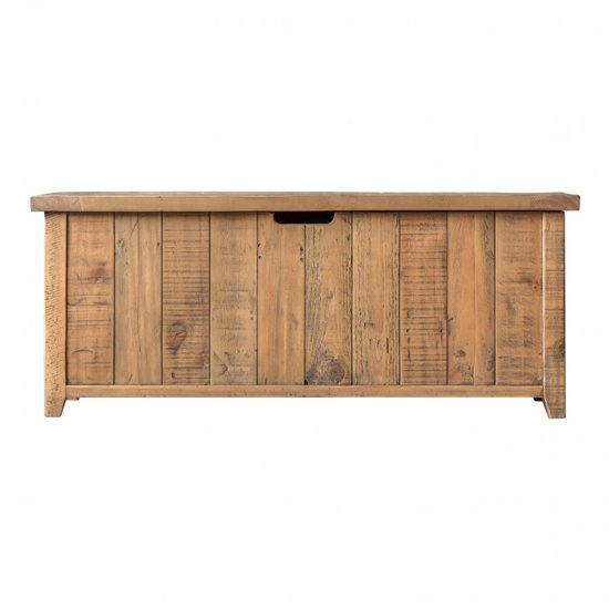 Elvedon Wooden Hallway Storage Bench In Oak