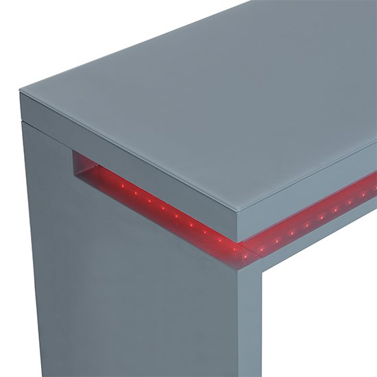 Emerson Computer Desk In Grey High Gloss With LED_11