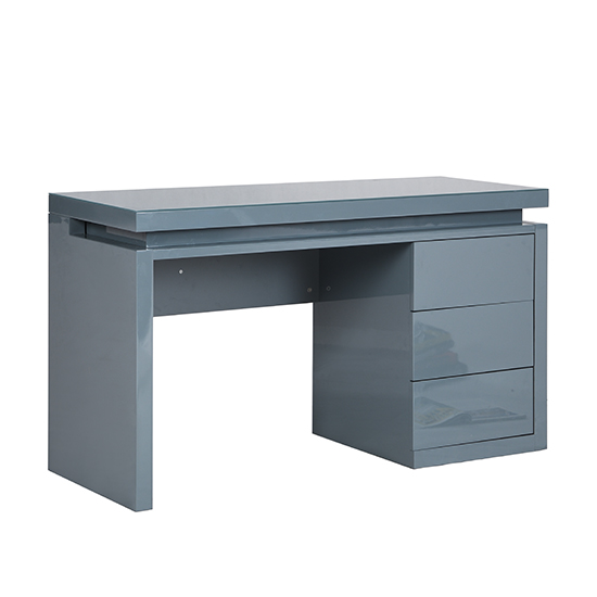 Emerson Computer Desk In Grey High Gloss With LED_10