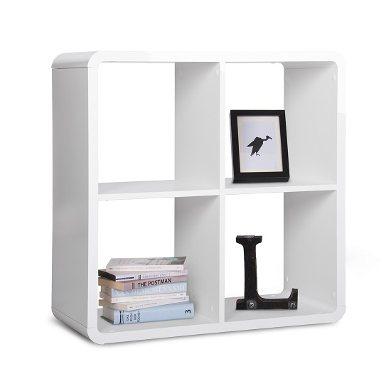 Emerson Cube Display Unit Square In White High Gloss 28075