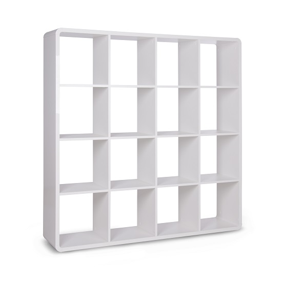 Emerson Bookcase And Shelving Unit In White High Gloss_3
