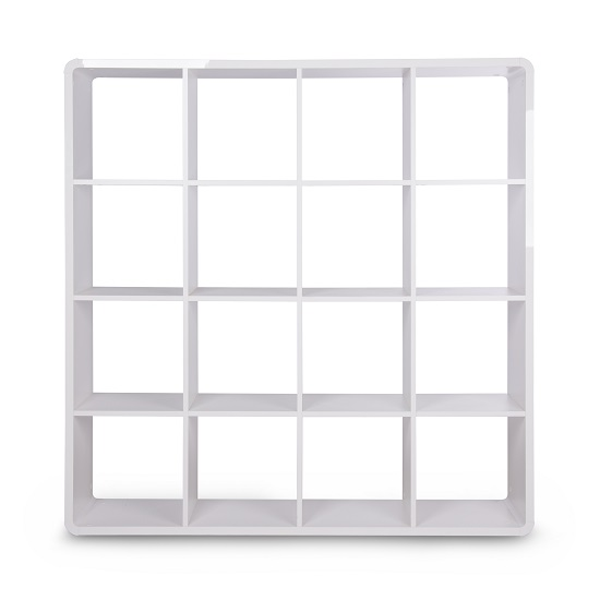 Emerson Bookcase And Shelving Unit In White High Gloss_2