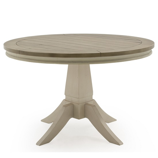 Emery Wooden Dining Table Round In Antique White