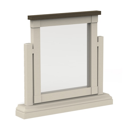 View Emery dressing table mirror in antique white