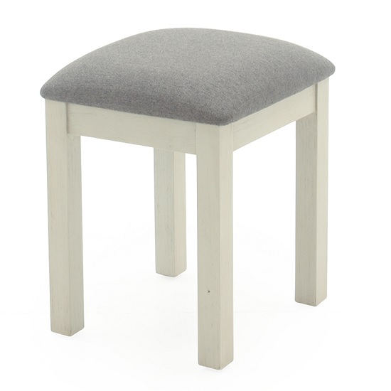 Emery Dressing Table Stool In Antique White