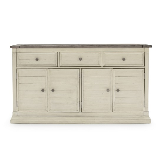 Emery Wooden Sideboard In Antique White With 4 Doors