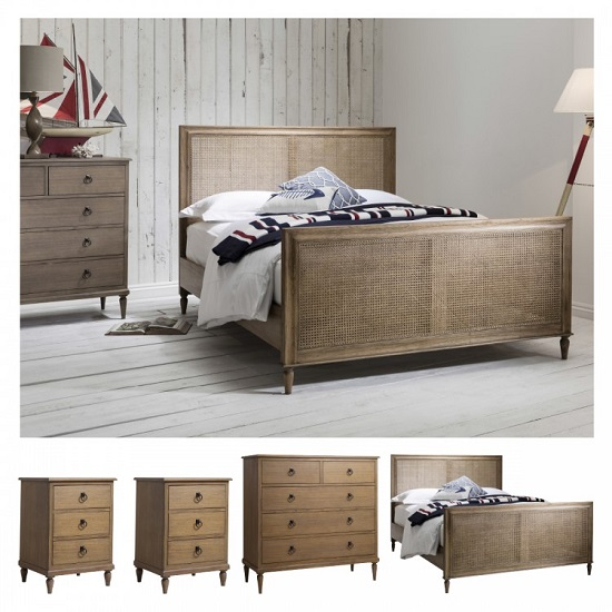 Read more about Emery wooden bedroom set in weathered finish