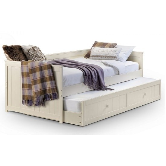 Emilio Day Bed And Pull Out Underbed In Stone White