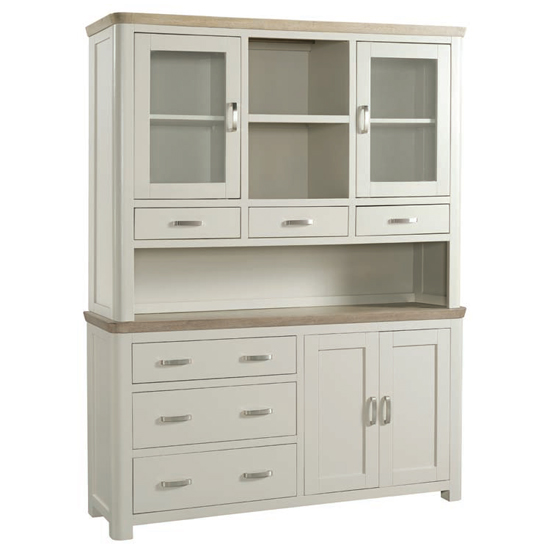 Empire Large Painted Display Cabinet With 4 Doors And 6 Drawers_1