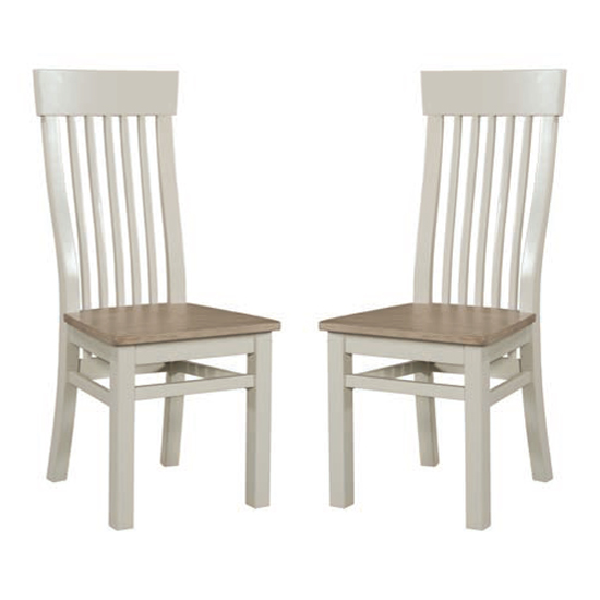Empire Stone Painted Dining Chair In Pair