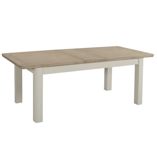 Empire Stone Painted Large Extending Wooden Dining Table