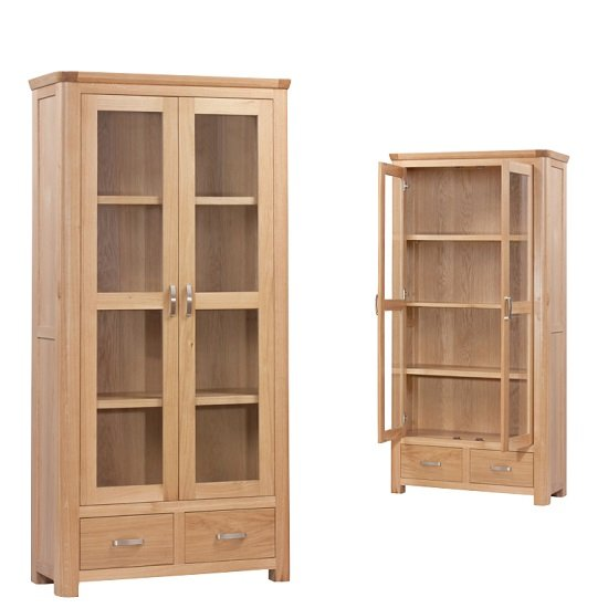 Empire Wooden Display Cabinet With 2 Doors And 2 Drawers
