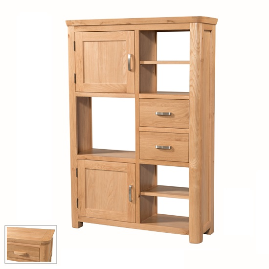 Empire Wooden High Display Unit With 2 Doors