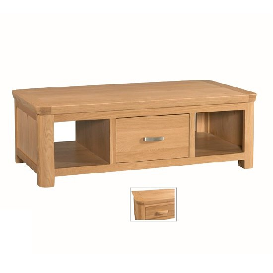 Empire Large Wooden Coffee Table With 1 Drawer