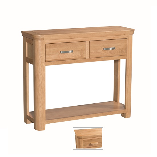 Empire Wooden Large Console Table With 2 Drawers