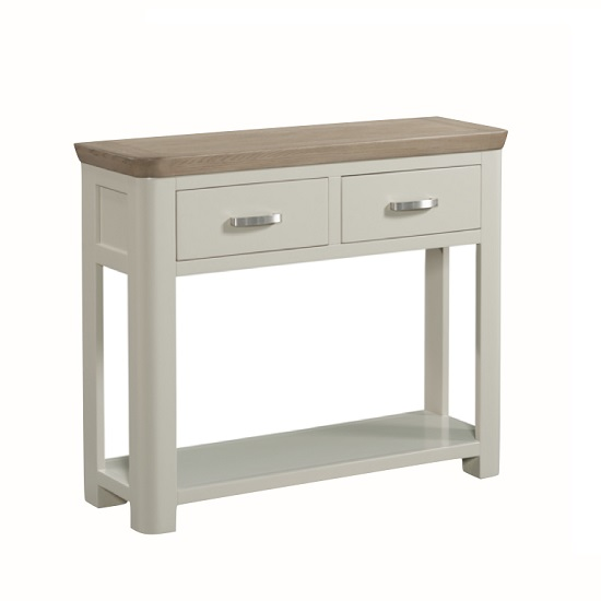 Empire Wooden Large Console Table In Stone Painted_1