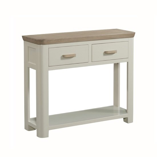 Empire Wooden Large Console Table In Stone Painted_2