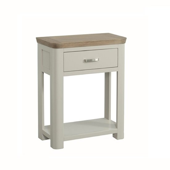 Empire wooden small console table in stone painted 27855 for Small metal console table