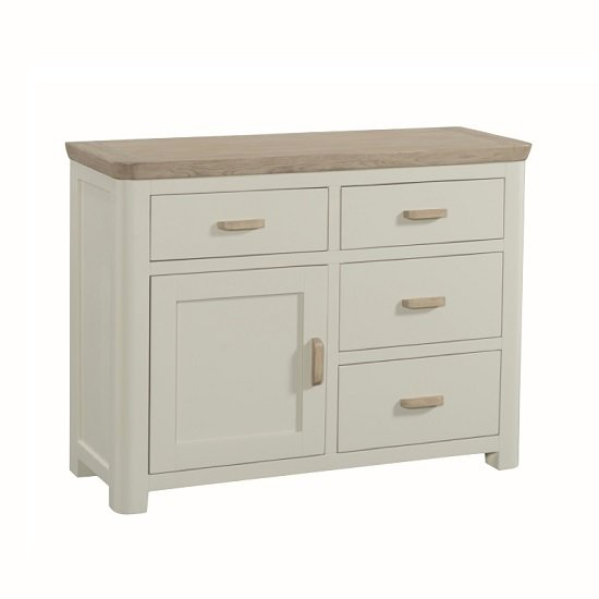 Painted Wooden Sideboard ~ Empire wooden small sideboard in stone painted