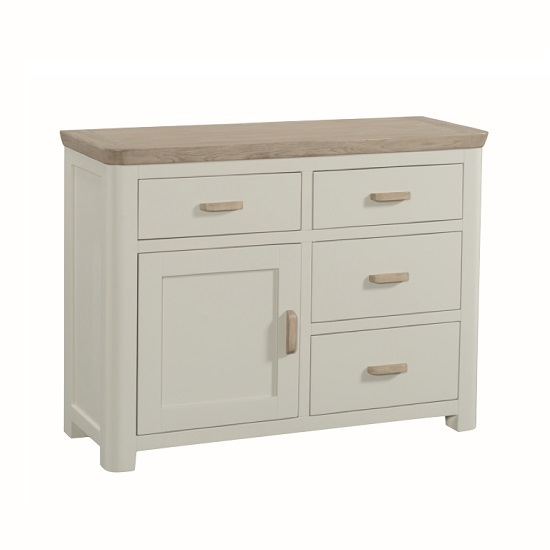 Empire wooden small sideboard in stone painted