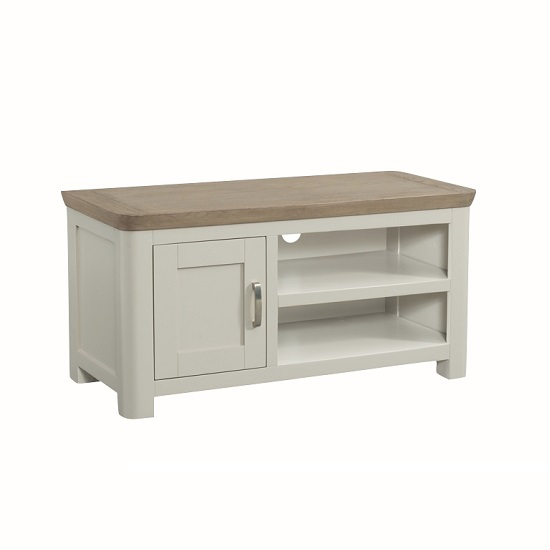 Empire Wooden TV Stand In Stone Painted With 1 Door
