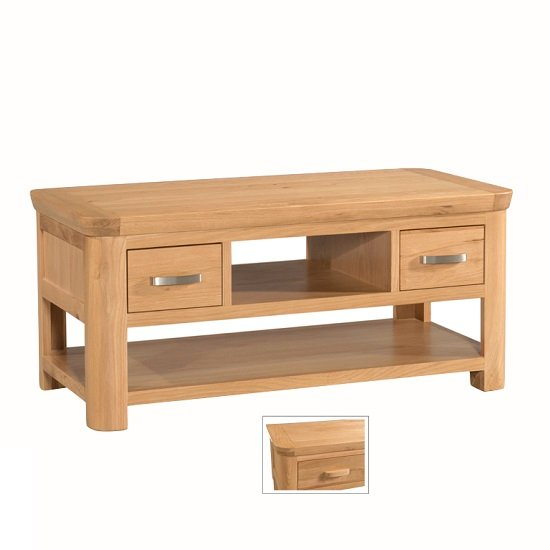 Empire Contemporary Coffee Table With 2 Drawers 27820