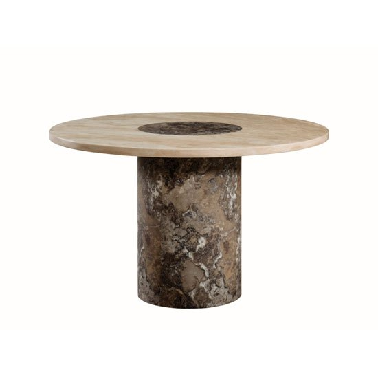 Chan Marble Top Round Coffee Table 80cm Brown Brass: Elgin Extendable Coffee Converting Dining Table In White Glo